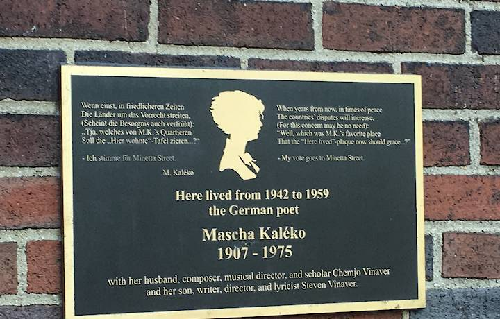 A Pilgrimage to Kaléko plaque on Minetta Street image